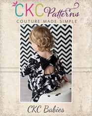 Amy's Baby Knit Bow Dress and Maxi PDF Pattern