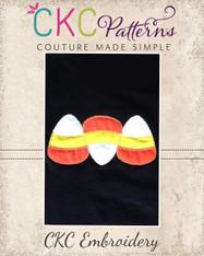 Candy Corn Trio Applique Embroidery Design