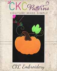 Pumpkin Leaf Applique Embroidery Design