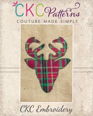 Deer Head Silhouette Embroidery Design