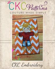 Scarecrow Applique Embroidery Design
