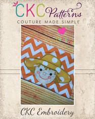 Scarecrow Face Applique Embroidery Design
