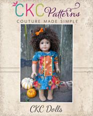 Della's Drop Waist Panel Dress and Tunic Doll Sizes PDF Pattern