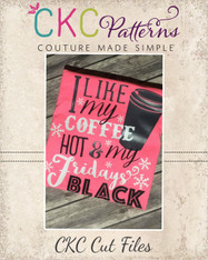 Black Friday Coffee and Chocolate Cut File