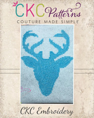 Deer Silhouette Cross Stitch Embroidery Design