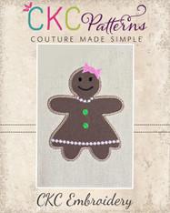 Gingergirl Applique Embroidery Design