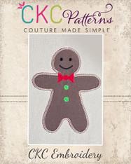 Gingerboy Applique Embroidery Design