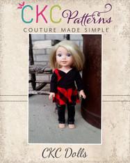 Mattia's Asymmetrical Dress and Tunic and Taelyn's Leggings Doll Sizes  PDF Pattern