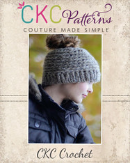 Marla's Messy Bun Crochet Hat PDF Pattern