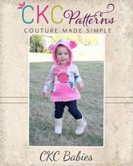 Winnie's Baby Hooded Dress and Sweatshirt PDF Pattern