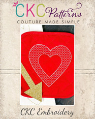 Heart and Frames Decorative Stitch Embroidery Design