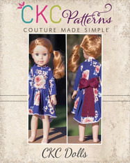 Aleya's Pointed High-Low Dress and Top in Doll Sizes PDF Pattern