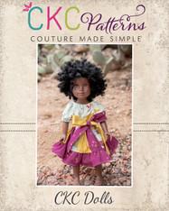 Jewel's Stripwork Dress in Doll SizesPDF Pattern
