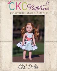 Perla's Perfectly Posh Knot Dress in Dolls Sizes PDF Pattern