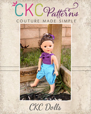 Tenley's Dolls Knotted Overalls PDF Pattern