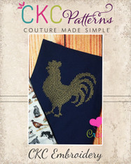 Rooster Silhouette Cross Stitch Embroidery Design