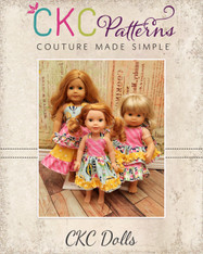 Anna's Doll Top and Dress & Cece's Skirt Doll Sizes PDF Pattern