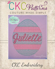 Easter Egg Decorative Stitch Embroidery Design