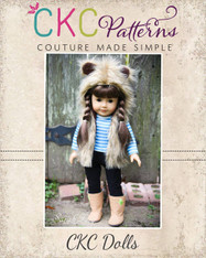 Frankie's Faux Fur Vest Dolls Sizes PDF Pattern