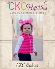 Frankie's Babies Faux Fur Vest PDF Pattern