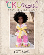Mimi's Twirly Peasant Top & Opal's Ruffle Pants Doll Sizes PDF Pattern