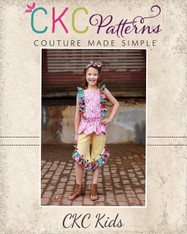 Raleigh's Ruffled  Hi-Low Pants and Capris PDF Pattern