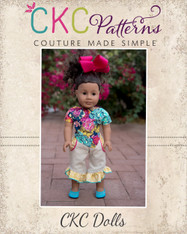 Raleigh's Ruffled  Hi-Low Pants & Neve's Crop Top Doll Sizes PDF Pattern