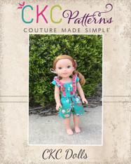 Luana's Little Doll Romper and Top Pattern PDF Pattern