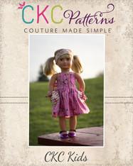 Pansy's Pocket Top and Sundress Doll Sizes PDF Pattern