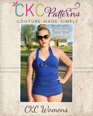 Freya's Women's Retro One-Piece Swimsuit PDF Pattern