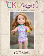 Freya's Doll's Retro One-Piece Swimsuit PDF Pattern