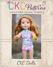 Freya's Doll's Retro One-Piece Swimsuit PDF Pattern