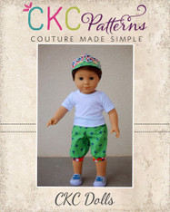 Christopher's Newsboy Cap and Tanner's Newsboy Knickers for Dolls PDF Pattern