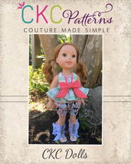 Azalea's Piped Panel Dress/Tunic and Brooke's Bubble Shorts Doll Sizes PDF Pattern