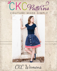 Bentlee's Women's Button-Up Skirt PDF Pattern