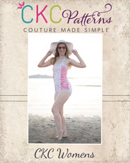 Ella's Women's Retro Ruched Swimsuit PDF Pattern