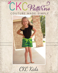 Utopia's Knit Bow Front Shorts and Capris PDF Pattern