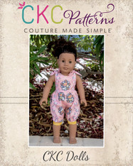 Abigail's Shoulder Tie Romper Doll sizes PDF Pattern