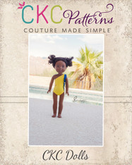 Yeal's Unique One Shoulder Swimsuit Doll Size PDF Pattern