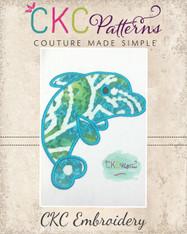 Dolphin Applique Embroidery Design