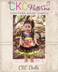 Loretta's V-Neck Ruffle Top, Dress and Maxi Doll Sizes PDF Pattern