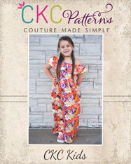 Marina's Ruffle Crop, Top, Dress and Maxi PDF Pattern