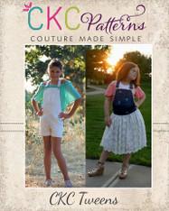 Shiloh's Tween Shortalls and Chiffon Dress PDF Pattern