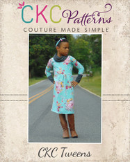 Kamry's Tweens Cowl Neck Dress and Top PDF Pattern