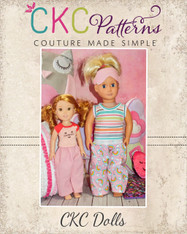 Taylor Pajama Pants Doll Sizes PDF Pattern