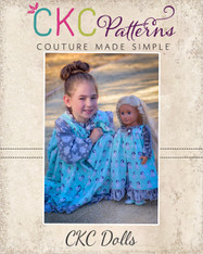 Lyra's Flannel Night Robe Dolls Sizes PDF Pattern