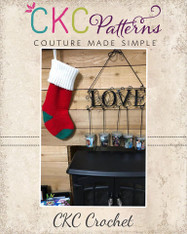Prancer Holiday Stocking Crochet PDF Pattern