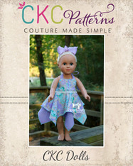 Effy's Tunic and Dress in Doll Sizes PDF Pattern