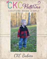 Lucas' Baby Half-Zip Sweatshirt PDF Pattern