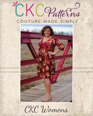 Shannon's Women's Faux Wrap Top, Dress, and Maxi  PDF Pattern